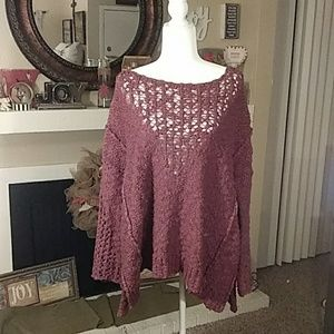 Free People size small burgundy sweater